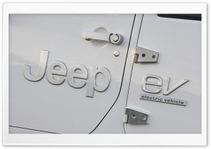 Jeep EV Badge HD Wide Wallpaper for Widescreen