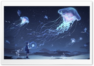 Jellyfish Art Ultra HD Wallpaper for 4K UHD Widescreen desktop, tablet & smartphone