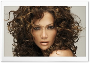 Jennifer Lopez Curly Hair HD Wide Wallpaper for Widescreen