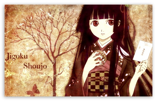 Jigoku Shoujo Girl From Hell HD wallpaper for Wide 16:10 5:3 Widescreen WHXGA WQXGA WUXGA WXGA WGA ; HD 16:9 High Definition WQHD QWXGA 1080p 900p 720p QHD nHD ; Mobile 5:3 16:9 - WGA WQHD QWXGA 1080p 900p 720p QHD nHD ;