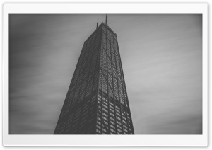 John Hancock Center in Chicago, Black and White HD Wide Wallpaper for Widescreen