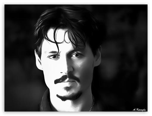 Johnny Depp Airbrush 4K HD Desktop Wallpaper For