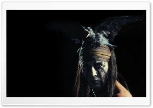Johnny Depp as Tonto - The Lone Ranger Movie 2013 HD Wide Wallpaper for Widescreen
