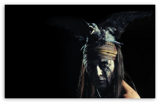 Johnny Depp as Tonto - The Lone Ranger Movie 2013 ❤ 4K UHD Wallpaper for Wide 16:10 5:3 Widescreen WHXGA WQXGA WUXGA WXGA WGA ; 4K UHD 16:9 Ultra High Definition 2160p 1440p 1080p 900p 720p ; Standard 4:3 5:4 3:2 Fullscreen UXGA XGA SVGA QSXGA SXGA DVGA HVGA HQVGA ( Apple PowerBook G4 iPhone 4 3G 3GS iPod Touch ) ; Tablet 1:1 ; iPad 1/2/Mini ; Mobile 4:3 5:3 3:2 16:9 5:4 - UXGA XGA SVGA WGA DVGA HVGA HQVGA ( Apple PowerBook G4 iPhone 4 3G 3GS iPod Touch ) 2160p 1440p 1080p 900p 720p QSXGA SXGA ;