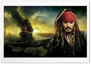 Johnny Depp, Pirates Of The Caribbean On Stranger Tides 2011 HD Wide Wallpaper for Widescreen