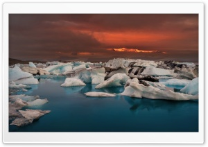 Jokulsarlon, Iceland Ultra HD Wallpaper for 4K UHD Widescreen desktop, tablet & smartphone