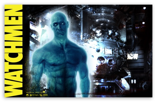 Jon Osterman Dr. Manhattan Watchmen HD wallpaper for Wide 16:10 5:3 Widescreen WHXGA WQXGA WUXGA WXGA WGA ; HD 16:9 High Definition WQHD QWXGA 1080p 900p 720p QHD nHD ; Standard 3:2 Fullscreen DVGA HVGA HQVGA devices ( Apple PowerBook G4 iPhone 4 3G 3GS iPod Touch ) ; Mobile 5:3 3:2 16:9 - WGA DVGA HVGA HQVGA devices ( Apple PowerBook G4 iPhone 4 3G 3GS iPod Touch ) WQHD QWXGA 1080p 900p 720p QHD nHD ;