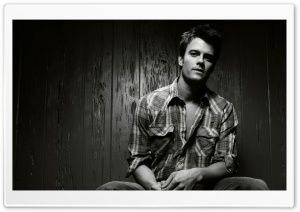 Josh Duhamel Black and White HD Wide Wallpaper for Widescreen