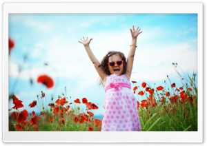 Joyful Girl HD Wide Wallpaper for Widescreen