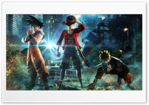 Jump Force - Goku, Naruto, Luffy HD Wide Wallpaper for 4K UHD Widescreen desktop & smartphone