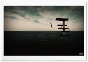 Jumping on Water HD Wide Wallpaper for Widescreen