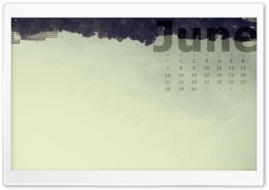 June Calendar HD Wide Wallpaper for Widescreen
