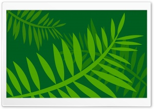 Jungle Leaves Vector Art HD Wide Wallpaper for Widescreen