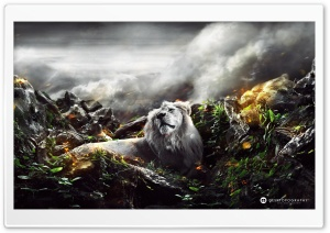 Jungle Lion HD Wide Wallpaper for Widescreen