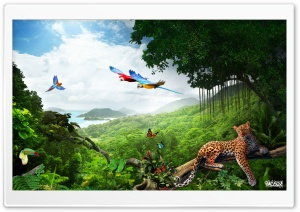 Jungle Photo Manipulation by Pacolix HD Wide Wallpaper for Widescreen