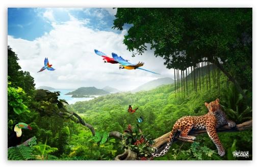 Jungle Photo Manipulation by Pacolix ❤ 4K UHD Wallpaper for Wide 16:10 5:3 Widescreen WHXGA WQXGA WUXGA WXGA WGA ; 4K UHD 16:9 Ultra High Definition 2160p 1440p 1080p 900p 720p ; Smartphone 16:9 5:3 2160p 1440p 1080p 900p 720p WGA ; Mobile 5:3 16:9 - WGA 2160p 1440p 1080p 900p 720p ;