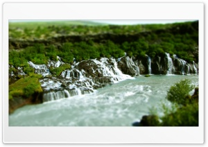 Jungle Waterfall, Tilt And Shift Effect HD Wide Wallpaper for Widescreen
