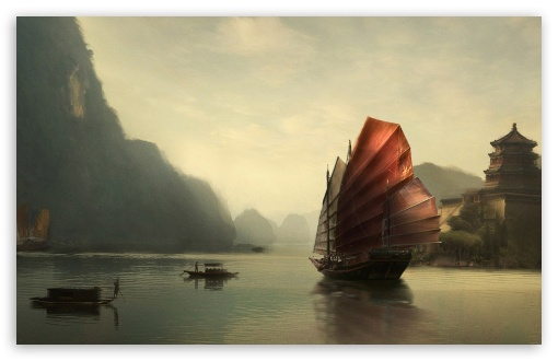 Junk Ship Chinese Painting HD wallpaper for Wide 16:10 5:3 Widescreen WHXGA WQXGA WUXGA WXGA WGA ; HD 16:9 High Definition WQHD QWXGA 1080p 900p 720p QHD nHD ; Standard 4:3 5:4 3:2 Fullscreen UXGA XGA SVGA QSXGA SXGA DVGA HVGA HQVGA devices ( Apple PowerBook G4 iPhone 4 3G 3GS iPod Touch ) ; Tablet 1:1 ; iPad 1/2/Mini ; Mobile 4:3 5:3 3:2 16:9 5:4 - UXGA XGA SVGA WGA DVGA HVGA HQVGA devices ( Apple PowerBook G4 iPhone 4 3G 3GS iPod Touch ) WQHD QWXGA 1080p 900p 720p QHD nHD QSXGA SXGA ;