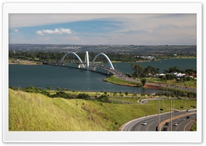 Juscelino Kubitschek ( or JK ) Bridge, Brasília HD Wide Wallpaper for 4K UHD Widescreen desktop & smartphone