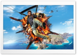 Just Cause 3 Keyart HD Wide Wallpaper for Widescreen