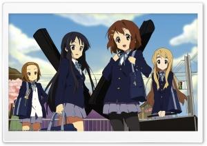 K ON! Akiyama Mio, Tainaka Ritsu, Hirasawa Yui And Kotobuki Tsumugi HD Wide Wallpaper for Widescreen