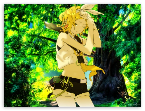 Kagamine HD wallpaper for Standard 4:3 5:4 Fullscreen UXGA XGA SVGA QSXGA SXGA ; Tablet 1:1 ; iPad 1/2/Mini ; Mobile 4:3 5:4 - UXGA XGA SVGA QSXGA SXGA ;