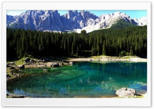 Karersee Lake HD Wide Wallpaper for Widescreen