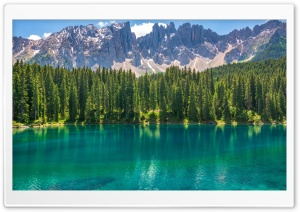 Karersee Lake, Dolomites Mountains, Italy HD Wide Wallpaper for 4K UHD Widescreen desktop & smartphone