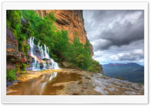 Katoomba Falls, Blue Mountains National Park, New South Wales, Australia HD Wide Wallpaper for Widescreen