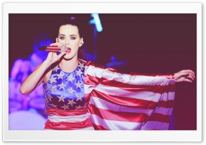 Katy Perry American Flag Dress HD Wide Wallpaper for Widescreen