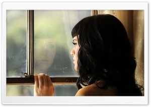Katy Perry At The Window HD Wide Wallpaper for Widescreen