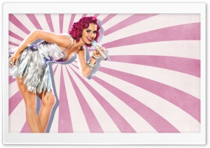 Katy Perry Pin-Up Style HD Wide Wallpaper for Widescreen