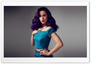 Katy Perry Purple Hair HD Wide Wallpaper for Widescreen