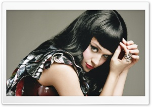 Katy Perry With Bangs HD Wide Wallpaper for Widescreen