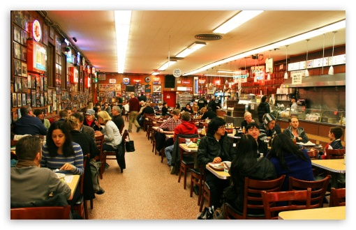 Katz's Deli - Lower East Side, New York HD wallpaper for Wide 16:10 5:3 Widescreen WHXGA WQXGA WUXGA WXGA WGA ; HD 16:9 High Definition WQHD QWXGA 1080p 900p 720p QHD nHD ; Standard 3:2 Fullscreen DVGA HVGA HQVGA devices ( Apple PowerBook G4 iPhone 4 3G 3GS iPod Touch ) ; Mobile 5:3 3:2 - WGA DVGA HVGA HQVGA devices ( Apple PowerBook G4 iPhone 4 3G 3GS iPod Touch ) ;