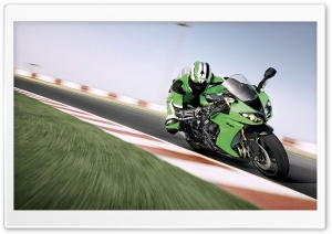 Kawasaki Ninja ZX 10R HD Wide Wallpaper for 4K UHD Widescreen desktop & smartphone