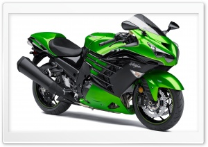 Kawasaki Ninja ZX-14R 2014 green HD Wide Wallpaper for 4K UHD Widescreen desktop & smartphone