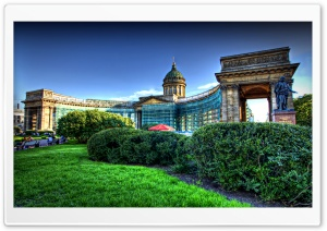 Kazan Cathedral St Petersburg Russia HD Wide Wallpaper for Widescreen