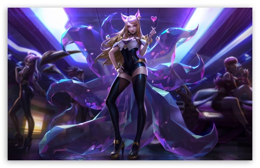 Kda Ahri Ultra Hd Desktop Background Wallpaper For