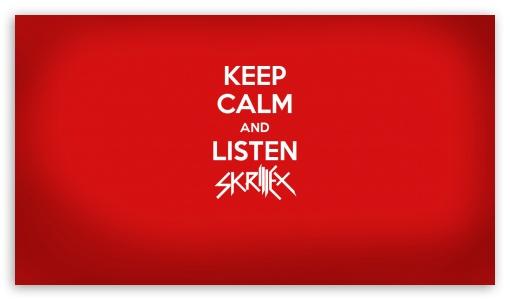 Keep calm and listen skrillex 4k hd desktop wallpaper for 4k download keep calm and listen skrillex hd wallpaper voltagebd Gallery