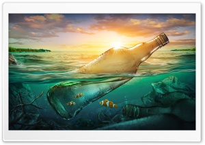 Keep the Ocean Clean Ultra HD Wallpaper for 4K UHD Widescreen desktop, tablet & smartphone