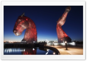Kelpies Horse Sculpture HD Wide Wallpaper for 4K UHD Widescreen desktop & smartphone