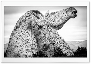 Kelpies Sculpture HD Wide Wallpaper for Widescreen