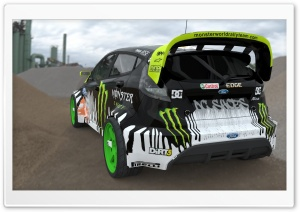 Ken Block Fiesta Render HD Wide Wallpaper for Widescreen