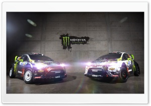 Ken Block Monster Energy Ford Fiesta WRC HD Wide Wallpaper for Widescreen