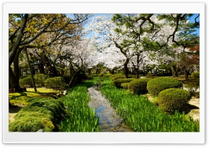 Kenroku-en, Three Great Gardens of Japan HD Wide Wallpaper for 4K UHD Widescreen desktop & smartphone