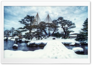 Kenrokuen Garden Winter HD Wide Wallpaper for Widescreen