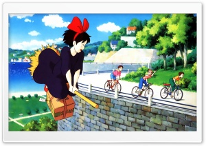 Kiki's Delivery Service HD Wide Wallpaper for Widescreen