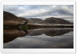 Kilchurn Castle, Loch Awe, West Highlands, Scotland HD Wide Wallpaper for Widescreen