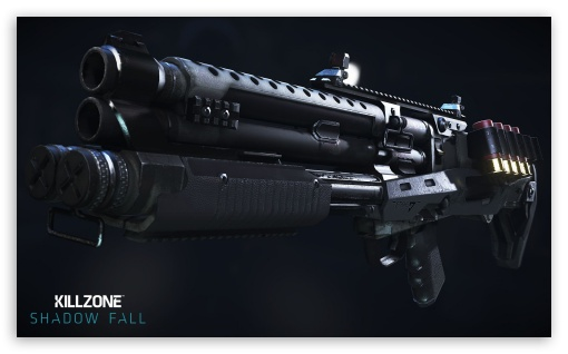 Killzone Shadow Fall, VC-30 Shotgun HD wallpaper for Wide 5:3 Widescreen WGA ; HD 16:9 High Definition WQHD QWXGA 1080p 900p 720p QHD nHD ; Mobile 5:3 16:9 - WGA WQHD QWXGA 1080p 900p 720p QHD nHD ;